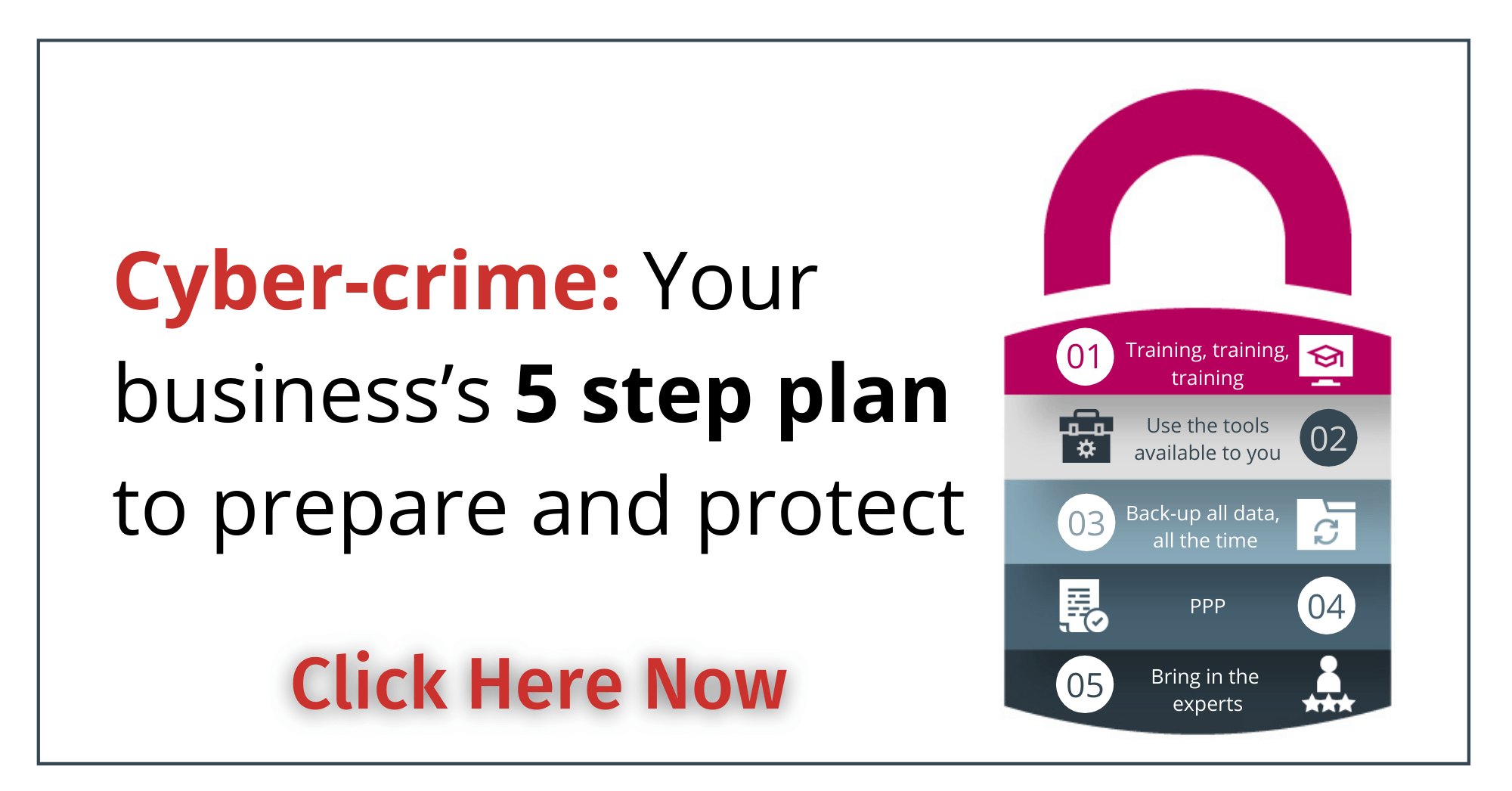 Guide download, cybersecurity, 5 step plan